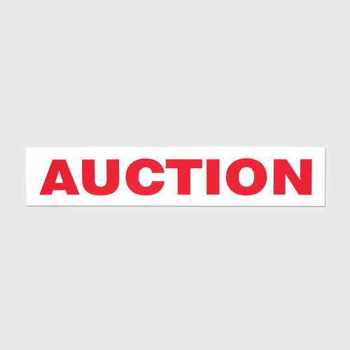 Sticker vinyl: AUCTION