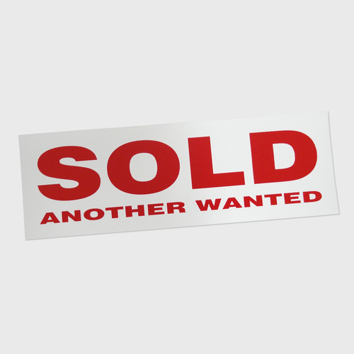 Sticker Large: SOLD ANOTHER WANTED
