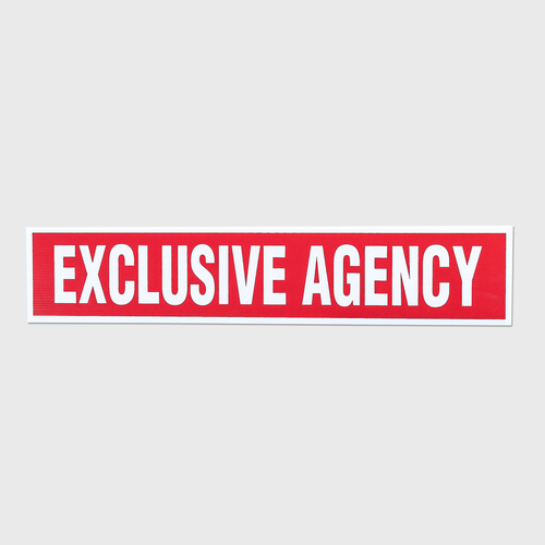 Corflute: EXCLUSIVE AGENCY