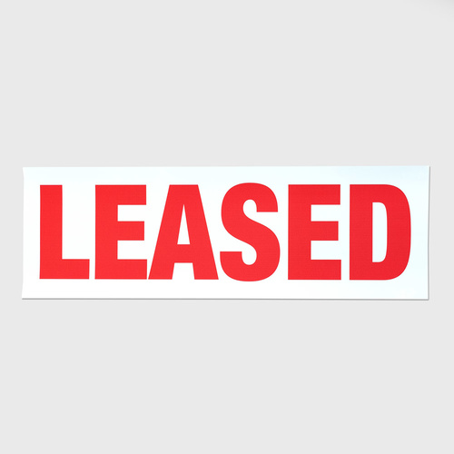 Sticker Large: LEASED